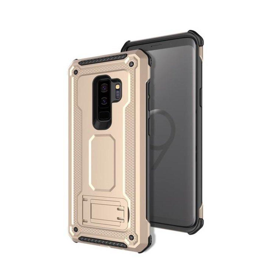 Samsung S9 Plus hybrid kickstand telefoonhoesje - Goud-1