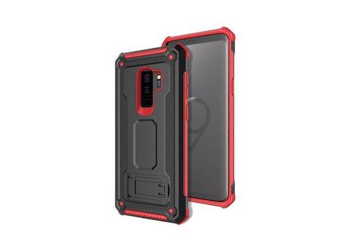 Samsung S9 Plus hybrid kickstand telefoonhoesje - Zwart rood