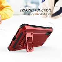 thumb-Huawei P20 hybrid kickstand telefoonhoesje - Rood-3