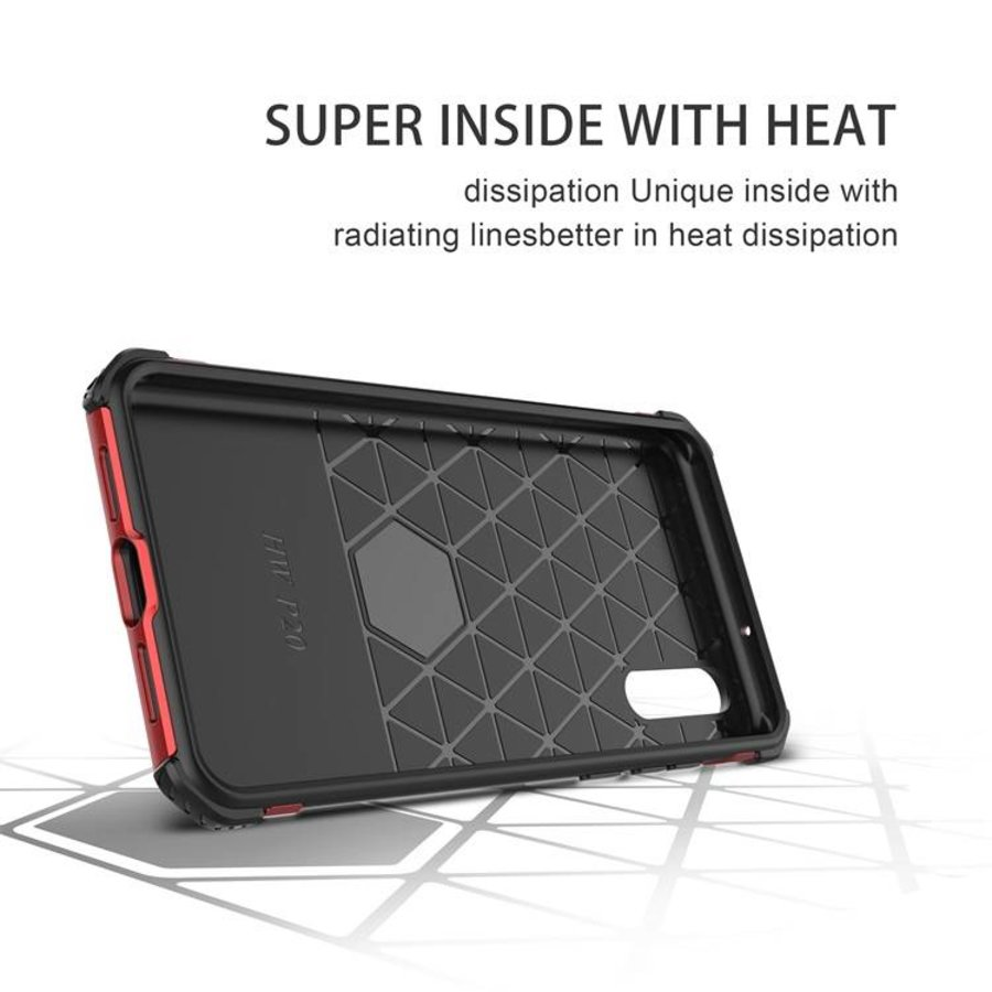 Huawei P20 hybrid kickstand telefoonhoesje - Rood-4