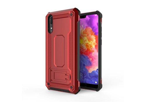 Huawei P20 hybrid kickstand telefoonhoesje - Rood