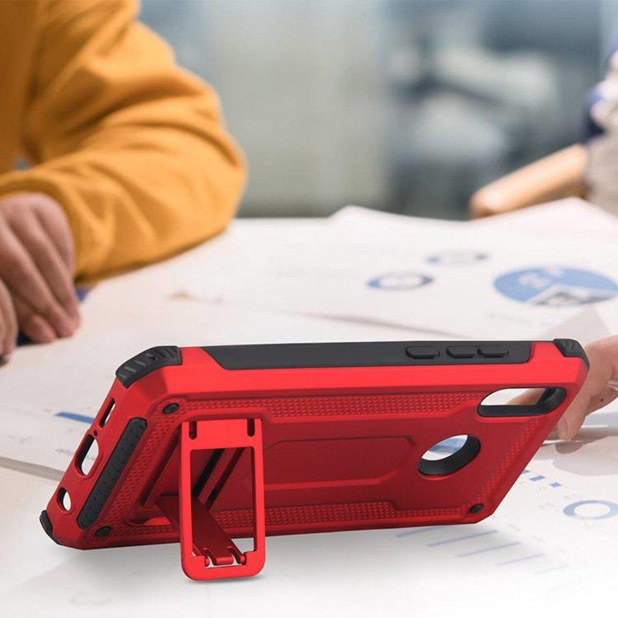 Huawei P20 Lite hybrid kickstand telefoonhoesje - Rood-2