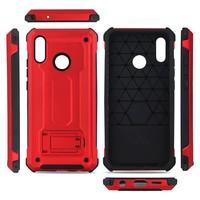 thumb-Huawei P20 Lite hybrid kickstand telefoonhoesje - Rood-3