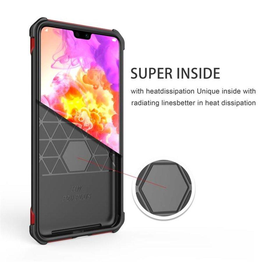 Huawei P20 Pro hybrid kickstand telefoonhoesje - Zwart rood-2