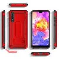 thumb-Huawei P20 Pro hybrid kickstand telefoonhoesje - Rood-2