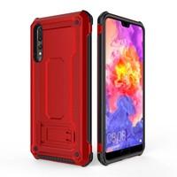 thumb-Huawei P20 Pro hybrid kickstand telefoonhoesje - Rood-1