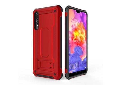 Huawei P20 Pro hybrid kickstand telefoonhoesje - Rood
