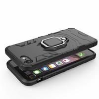 thumb-Apple Iphone 7 Ring magnet telefoonhoesje - Zwart-4