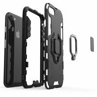 thumb-Apple Iphone 8 Ring magnet telefoonhoesje - Zwart-4