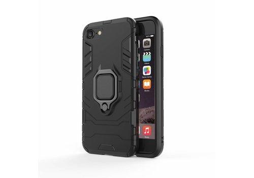 Apple Iphone 8 Plus Ring magnet telefoonhoesje - Zwart