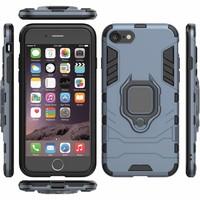 thumb-Apple Iphone 8 Plus Ring magnet telefoonhoesje - Blauw-2