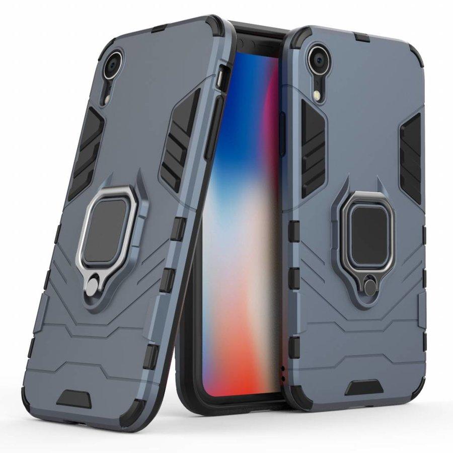 Apple Iphone XR Ring magnet telefoonhoesje - Blauw-3