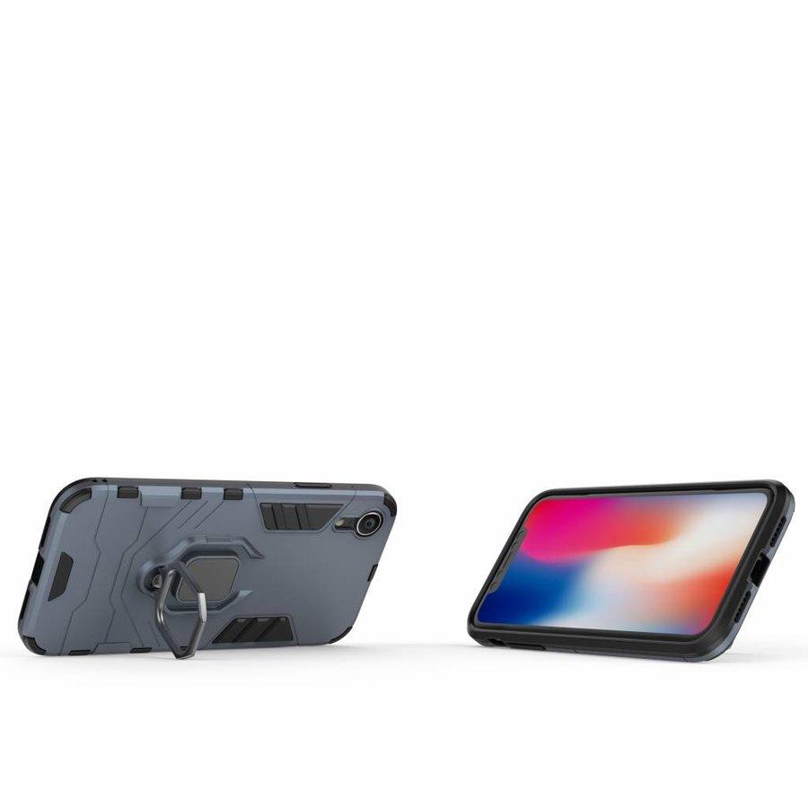 Apple Iphone XR Ring magnet telefoonhoesje - Blauw-2