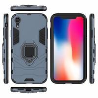 thumb-Apple Iphone XR Ring magnet telefoonhoesje - Blauw-5