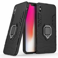 thumb-Apple Iphone XS max Ring magnet telefoonhoesje - Zwart-3