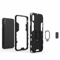 thumb-Apple Iphone XS max Ring magnet telefoonhoesje - Zwart-6