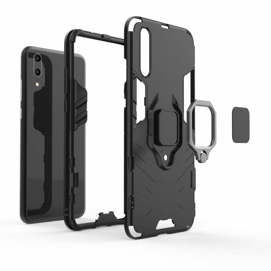 Huawei P20 Ring magnet telefoonhoesje - Zwart-4