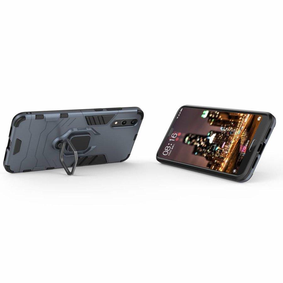 Huawei P20 Ring magnet telefoonhoesje - Blauw-2