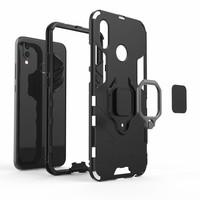 thumb-Huawei P20 Lite Ring magnet telefoonhoesje - Zwart-5