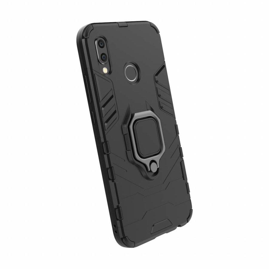 Huawei P20 Lite Ring magnet telefoonhoesje - Zwart-3