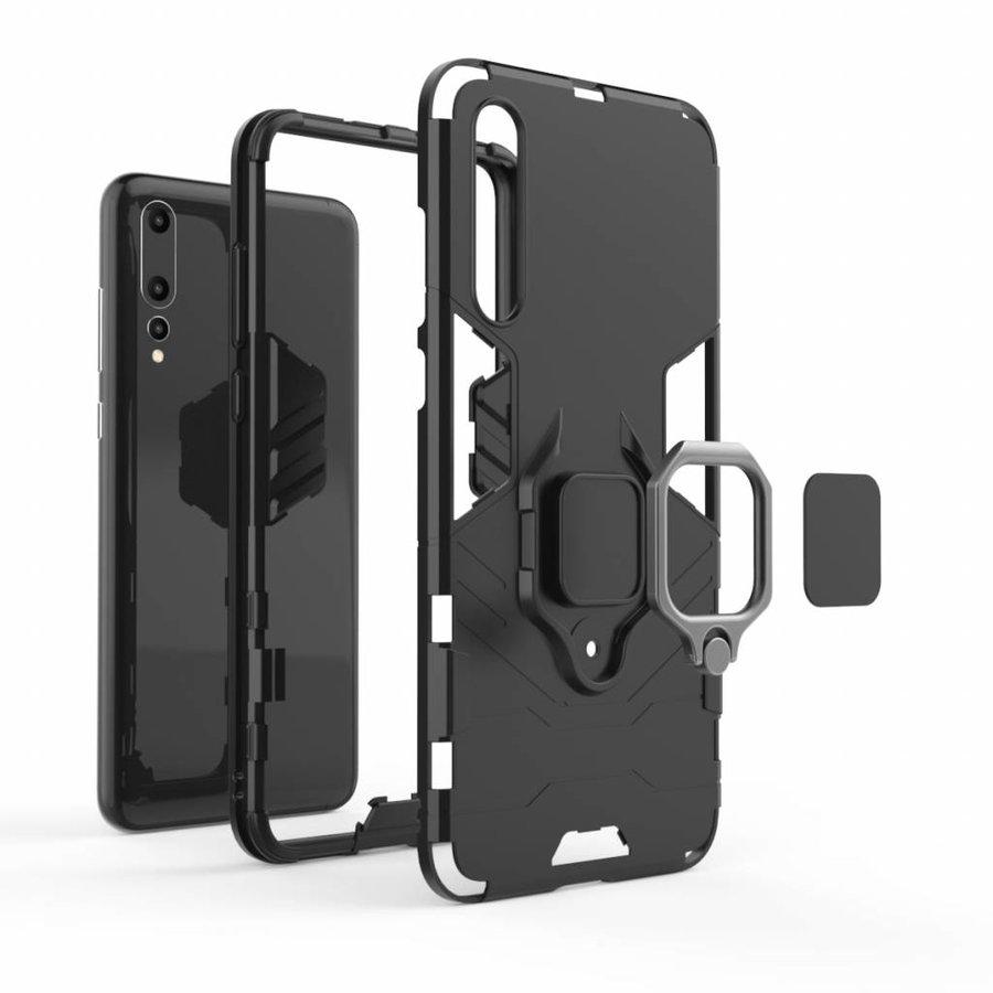 Huawei P20 Pro Ring magnet telefoonhoesje - Zwart-4