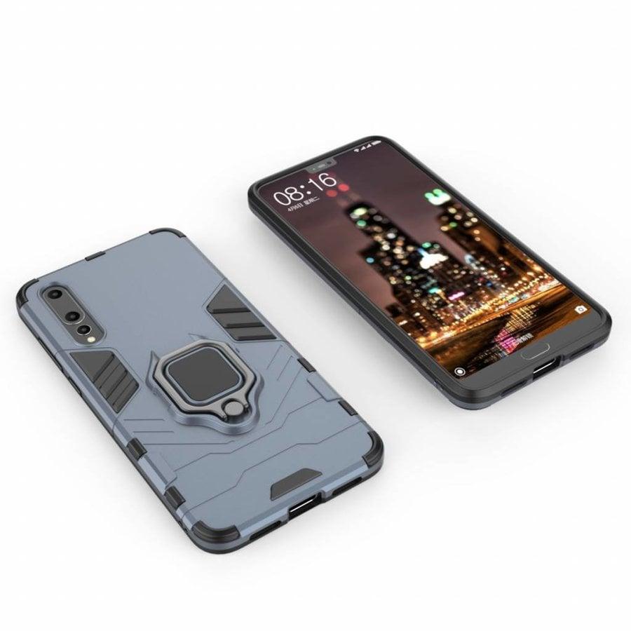 Huawei P20 Pro Ring magnet telefoonhoesje - Blauw-3