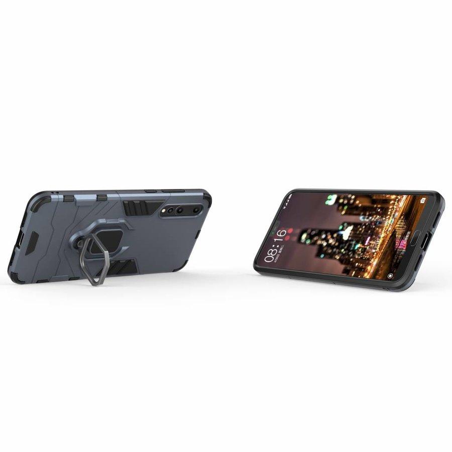 Huawei P20 Pro Ring magnet telefoonhoesje - Blauw-2