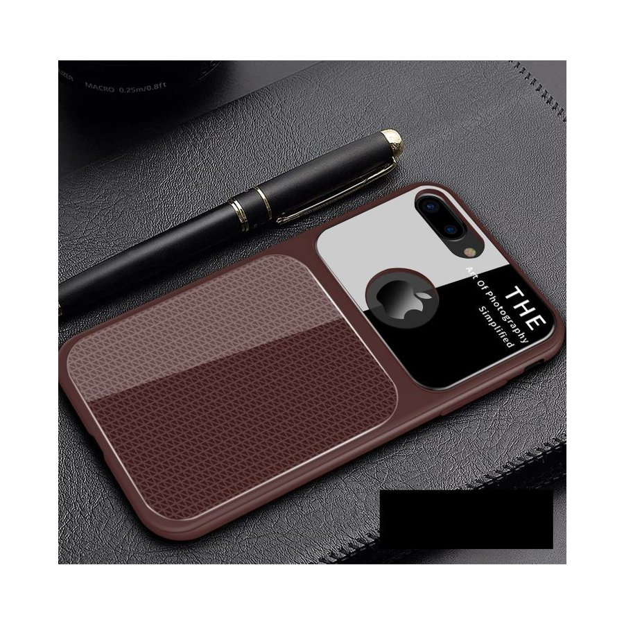 Apple Iphone 7 Slim Focus telefoonhoesje - Bruin-1
