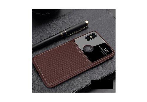 Apple Iphone XS Slim Focus telefoonhoesje - Bruin