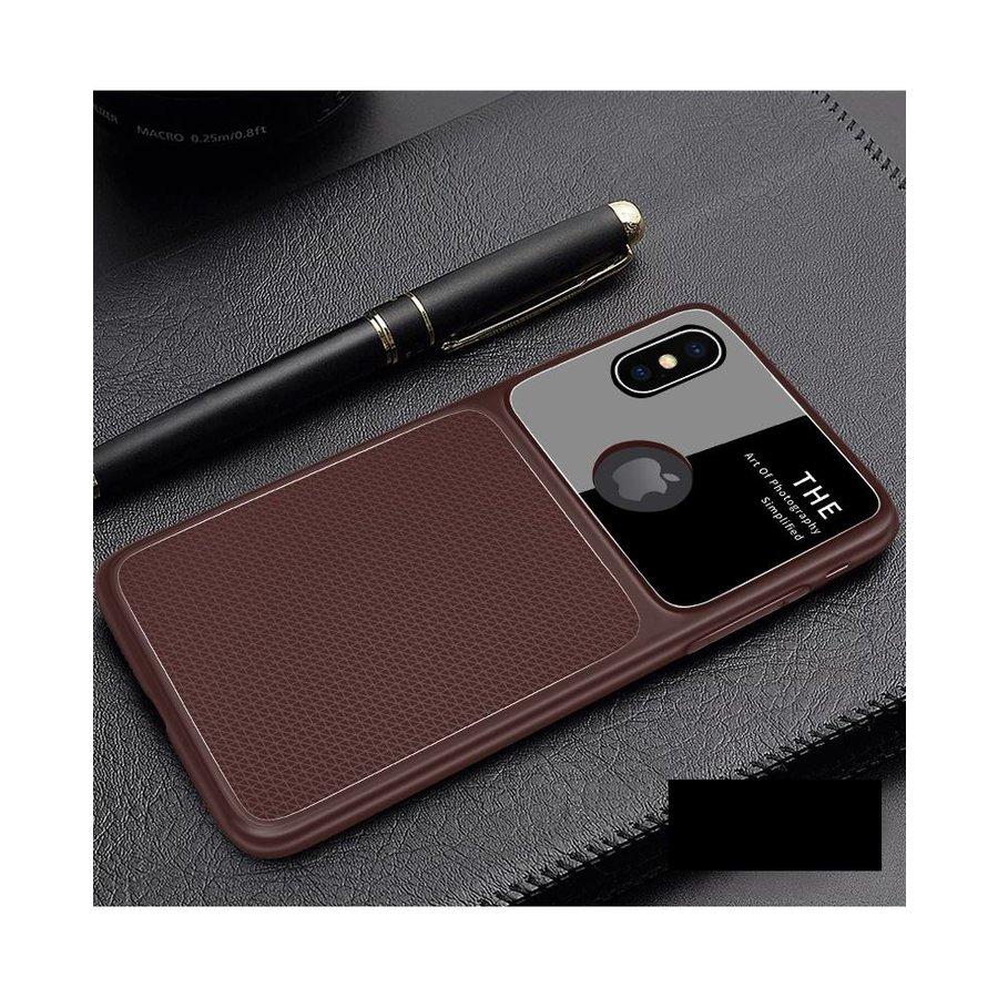Apple Iphone XS Slim Focus telefoonhoesje - Bruin-1