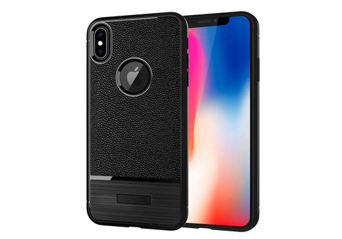 Apple Iphone X Rugged armour telefoonhoesje - zwart