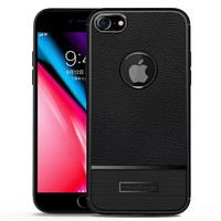 thumb-Apple Iphone 8 Rugged armour telefoonhoesje - zwart-1