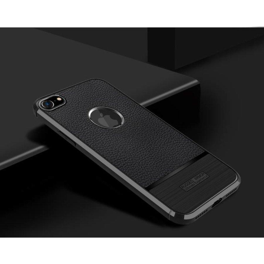Apple Iphone 7 Rugged armour telefoonhoesje - zwart-2