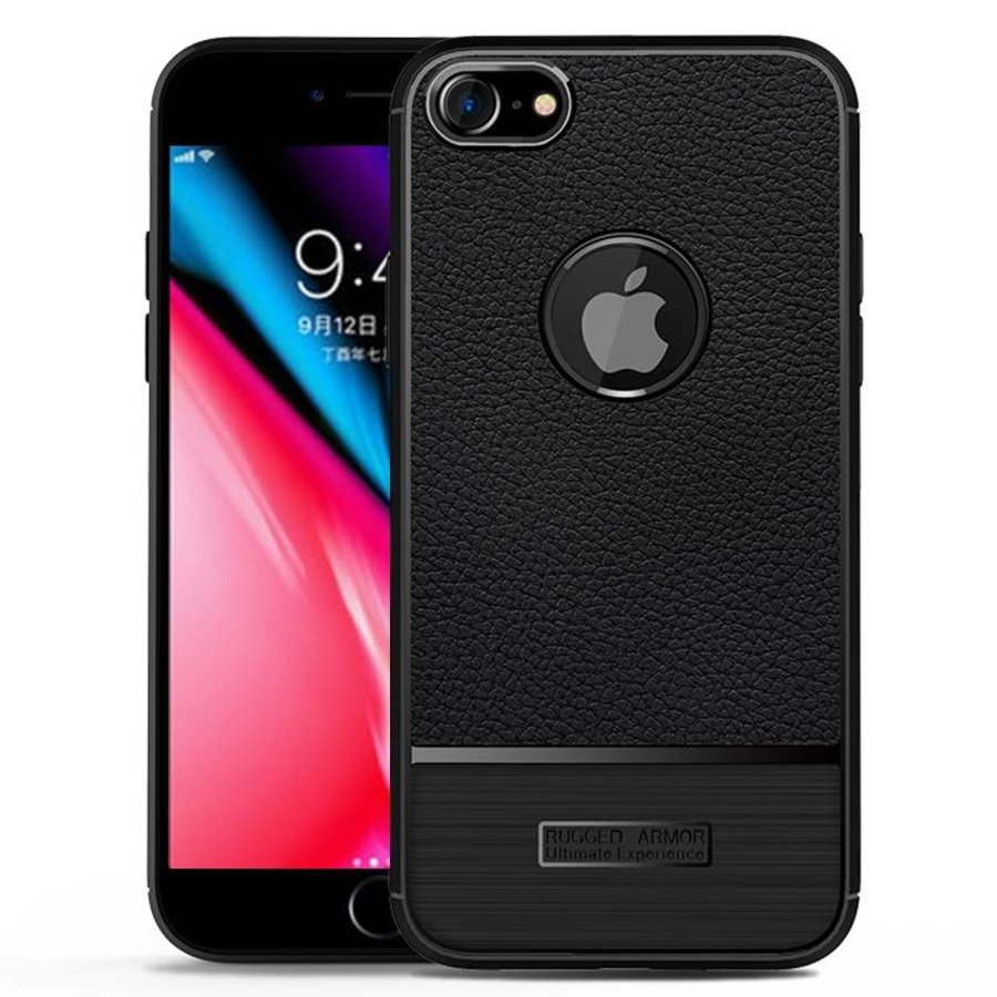Apple Iphone 7 Rugged armour telefoonhoesje - zwart-1
