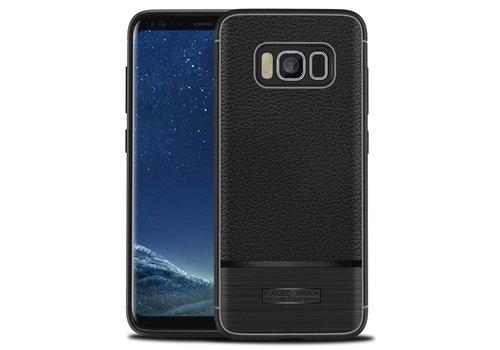 Samsung S8 Rugged armour telefoonhoesje - Zwart