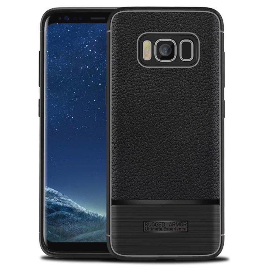 Samsung S8 Rugged armour telefoonhoesje - Zwart-1