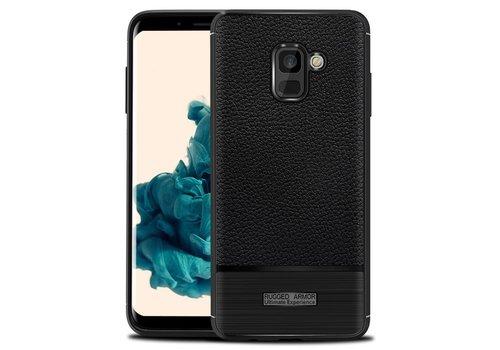 Samsung A8 Rugged armour telefoonhoesje - Zwart