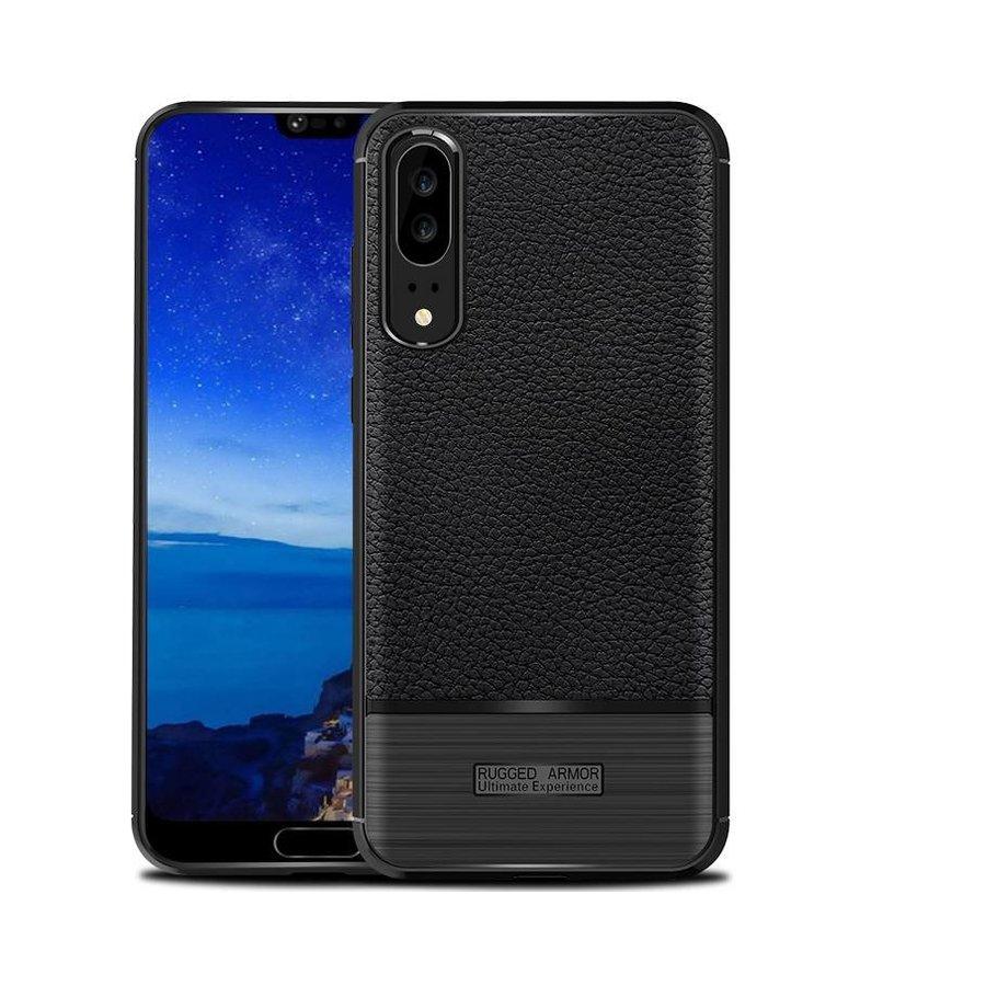 Huawei P20 Rugged armour telefoonhoesje - Zwart-1
