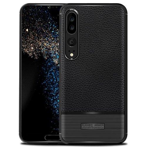 Huawei P20 Pro Rugged armour telefoonhoesje - Zwart