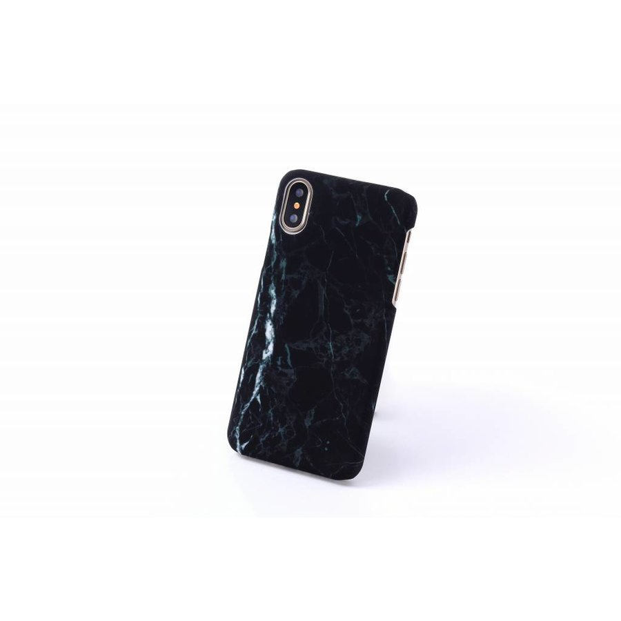 Apple Iphone X Marmer telefoonhoesje - Zwart-2