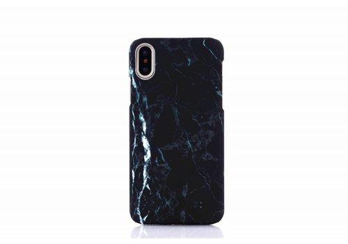 Apple Iphone X Marmer telefoonhoesje - Zwart