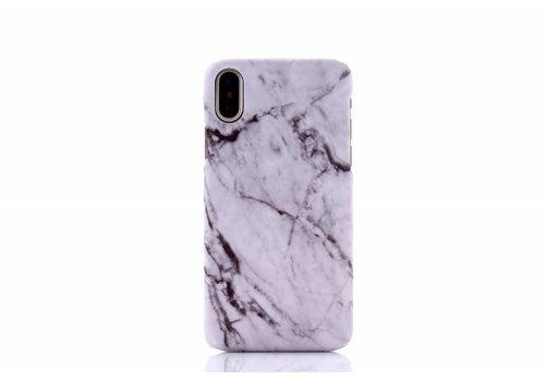 Apple Iphone XS Marmer telefoonhoesje - wit