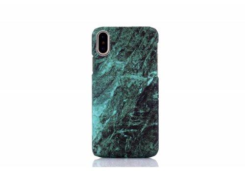 Apple Iphone X Marmer telefoonhoesje - Groen