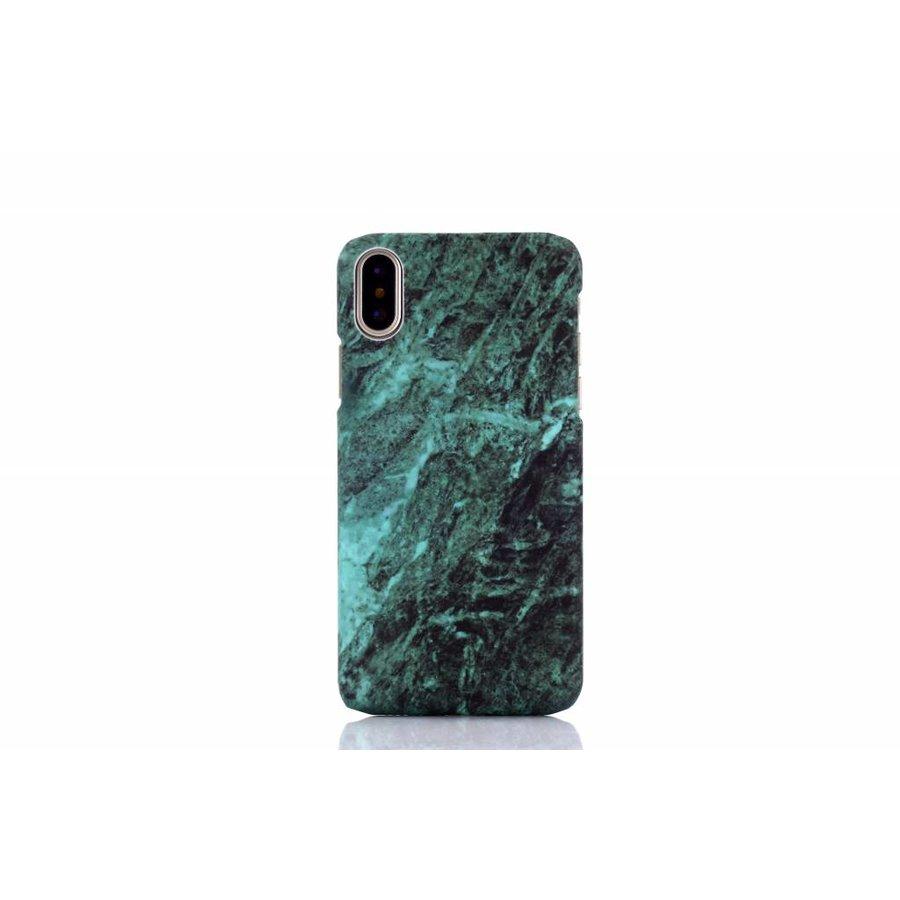 Apple Iphone XS Marmer telefoonhoesje - Groen-1