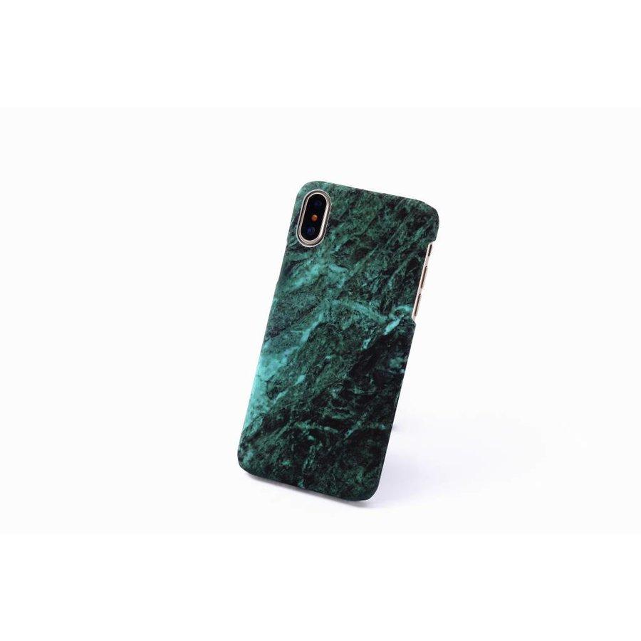 Apple Iphone XS Marmer telefoonhoesje - Groen-2