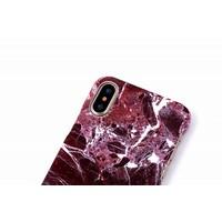 thumb-Apple Iphone X Marmer telefoonhoesje - Rood-3