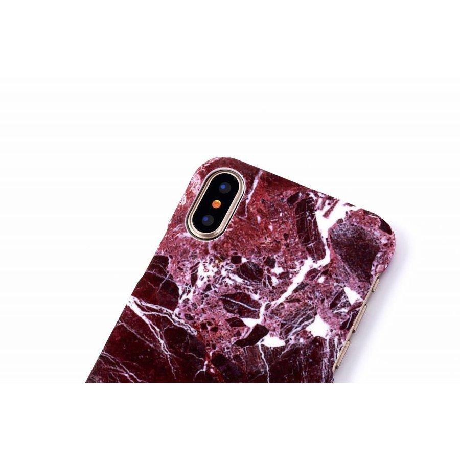 Apple Iphone X Marmer telefoonhoesje - Rood-3
