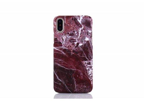 Apple Iphone X Marmer telefoonhoesje - Rood