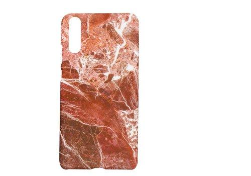 Huawei P20 Marmer telefoonhoesje - Rood