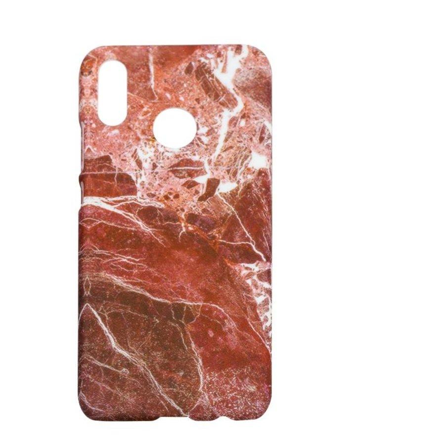 Huawei P20 Lite Marmer telefoonhoesje - Rood-1